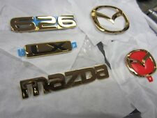 2000 Mazda 626 Gold Emblems Emblem Set of 5 Trunk Logo LX Grill Grille OEM