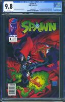 Spawn 1 (Image) CGC 9.8 White Pages Newsstand, 1st Appearance of Spawn