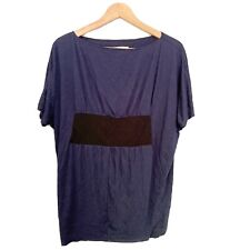 Xhilaration loose fit short sleeve blouse blue M
