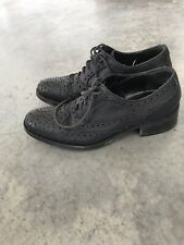 Studio Pollini Black Wingtip Wing Tip Leather Lace Up Shoes Womens Size 35 / 5