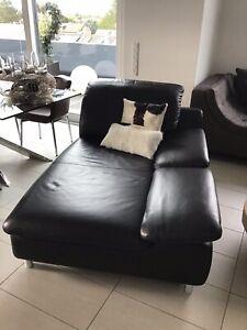 Schilling Longchair Sofa Modell Amore Leder Schwarz NEUWERTIG