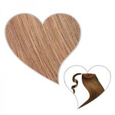 coda di cavallo TOUPET 50 cm BIONDO SCURO #10 capelli veri treccia Extensions
