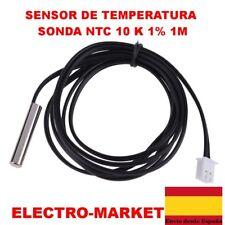 SENSOR DE TEMPERATURA SONDA NTC 10 K 1% 3950 Sonda Impermeable 1 m