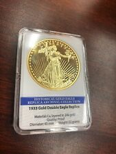 1933 Gold Double Eagle Replica 24K Layered Gold Historical Archival Collection #