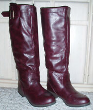 BAMBOO 'Montage' Tall Knee High Back Zip Riding Boots~Cordovan Red Brown~Size 6