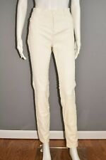 VINCE $995 Ivory Soft Leather Skinny Pant Mid Rise Size 12