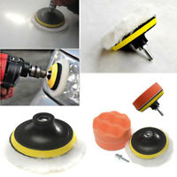 4X 4'' Gross Polish Polishing Buffer Pad Kit With Drill Adapter For Car Polisher