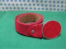 DONNA  CINTURA in Vera Pelle Colore Rosso Cm.105 x Cm.4 - Primadonna - Italy