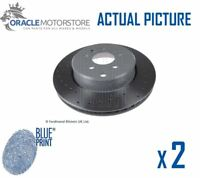 2 x NEW BLUE PRINT REAR BRAKE DISCS SET BRAKING DISCS PAIR OE QUALITY ADT343303