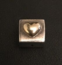 Genuine Pandora I LOVE YOU charm silver 925 Ale Gold Plated Heart Preowned Used