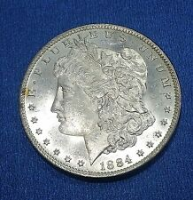 US Morgan Silver Dollar 1884 O  (1878-1921)  White Luster Cameo Proof Like.