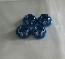 1/10 RC car on road drift realistic wheel nuts Royal Blue alloy