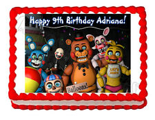Five nights at Freddy's FNaF 3 party edible cake image topper frosting sheet