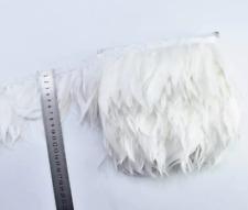 White Shredded Goose Feather Fringe Ribbon Trim Price for 30cm DIY Craft