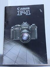 Canon F-1 Rare Brochure 1981. Vintage Camera Brochure Canon F-1.