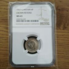 More details for 1927 six pence bu ngc ms63