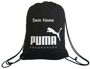 PUMA Turnbeutel Gym Sack Sportbeutel Beutel schwarz mit deinem Namen