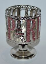 BATH & BODY WORKS PARIS EIFFEL TOWER PEDESTAL LARGE CANDLE HOLDER SLEEVE 14.5 OZ