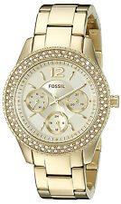 Fossil ES3589 Stella Gold Dial Gold Tone Stainless Steel Women's Watch