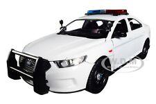 2013 FORD POLICE INTERCEPTOR W/ LIGHTS & SOUNDS PLAIN WHITE 1/24 MOTORMAX 79538