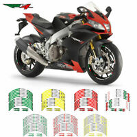 Motorcycle Wheel rim decals tape stripes stickers For APRILIA RSV4  ALL MODELS