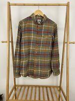 Woolrich Men's Flannel Plaid Pocket Button Front Long Sleeve Shirt Size M EUC