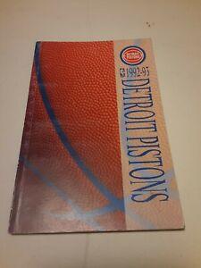 1992-93 DETROIT PISTONS MEDIA GUIDE Yearbook 1993 Press Book Program NBA