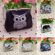 femmes Mini cuir imprimé Porte-monnaie Mignon Porte-Cartes sac à main pochette
