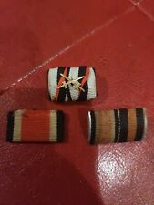 Original WW2 German Army Soldier's Two Place Ribbon Bar w/2 other EK2 and wrap