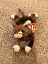 "1998 Vintage TY Beanie Babies Baby Plush Stuffed Animal Doll ""Pounce"" Cat Kitten"