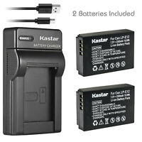 Kastar Battery + Charger For Canon LP-E12 EOS M M2 M10 M50 M100 M200 100D LC-E12