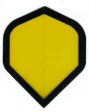 Dart Flights -5 Yellow No Stinkin' Logos Standard Sets