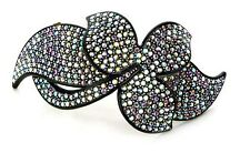 New Rhinestone Crystal Multi color Colorful Maple Leaf Hair Comb Tiaras Pin Clip