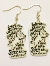 Big Bang Theory Soft Kitty Song Earrings Handmade Plastic Charms Geek Nerd