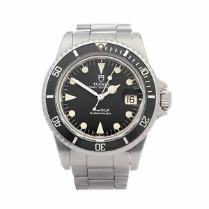 TUDOR SUBMARINER DATE METERS FIRST STAINLESS STEEL WATCH 76100 40MM W007964