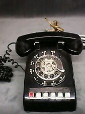 Vintage Classic Black  Rotary Dial Telephone