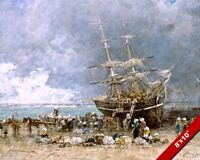 SHIPWRECK OF THE TERRE NEUVIER FRENCH SAILBOAT PAINTING ART REAL CANVAS PRINT