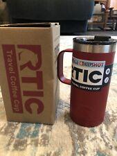 RTIC 16oz Coffee Cup New Style Tumbler 2019 Twist on Splash Proof Lid Cardinal
