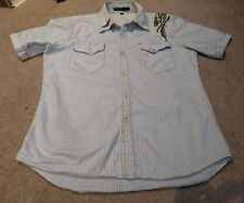 """ENERGIE GOLD S/S Shirt - M - Striped - 42"""" chest"""