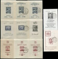 Czechoslovakia Czech Republic Souvenir Sheets Postage Stamp Collection Used Mlh