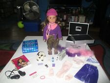 American Girl Marisol's Doll Dance Theatre Trunk Storage Case Acc's & Cat