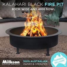 LARGE FIRE PIT Kalahari BLACK 25kg 4mm Bowl Outdoor Fireplace Patio Heater Plant