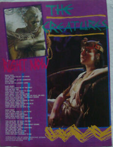 THE CREATURES - RIGHT NOW 1980's Full page UK magazine lyric poster Siouxsie
