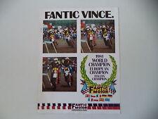 advertising Pubblicità 1981 MOTO FANTIC MOTOR VINCE - WORLD CHAMPION