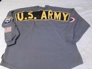 US Army Spirit Jersey Long Sleeve Shirt Medium gray Rare!!