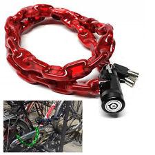 Cadena Seguridad Moto Bicicleta Antirrobo Revestida Candado Resistente Al Rayado