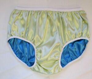 Double Satin Pantiesfor Men Women'sAdult Sissy Baby Reversible XL Hipster Cut