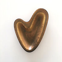Nylund Gunnar Dish Brown Mustard Mid Century Nymolle Heart Shape Collectible