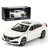 1:32 Honda Civic Model Car Metal Diecast Gift Toy Vehicle Kids Collection White