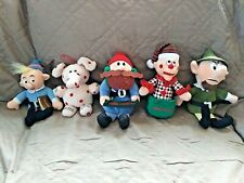 Rudolph & The Island of Misfits Toys 5 Plush Elephant Hermey Yukon Charlie Elf